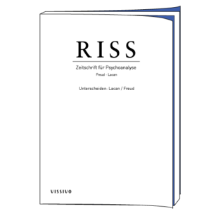 Edition RISS 85. Unterscheiden: Lacan / Freud