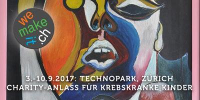 Charity-Anlass vom 3.-10.9.2017 im Technopark Zürich zu Gunsten krebskranker Kinder und Jugendlicher