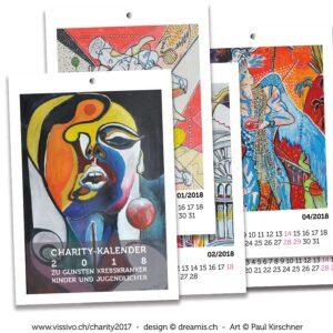 Kunstbuch Retrospektive Paul Kirschner VISSIVO  Technopark Zürich Charity-Anlass zu Gunsten krebskranker Kinder und Jugendlicher Ausstellung Gemälde Kunst