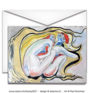 Paul Kirschner Kunstkarte Charity für krebskranke Kinder VISSIVO Zürich 2017